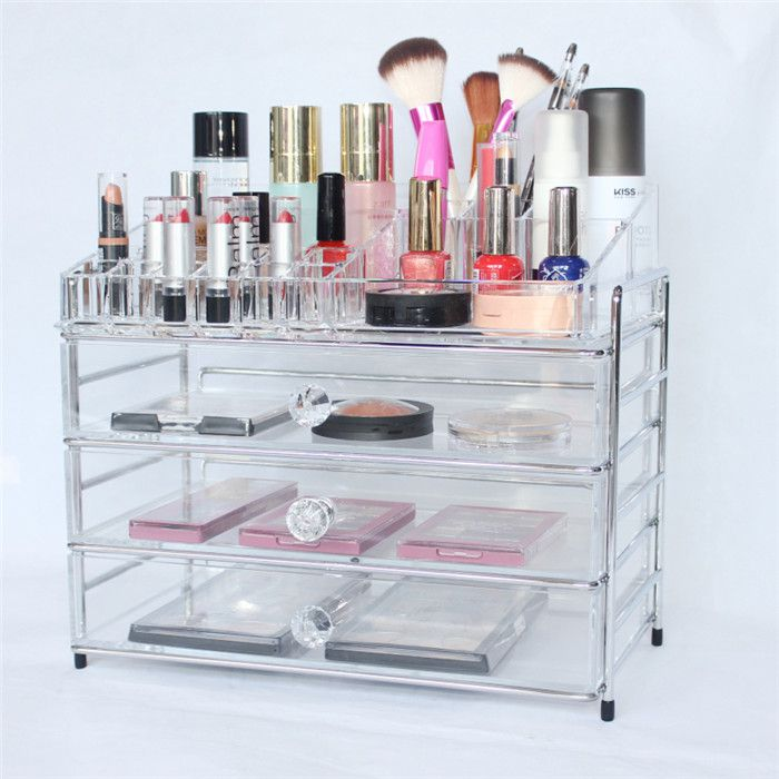 Clear Acrylic Makeup Drawers